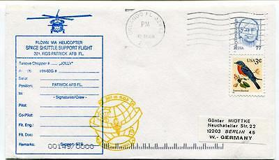 2002 Flown Via Helicopter Space Shuttle Support Flight Orlando Patrick AFB SPACE
