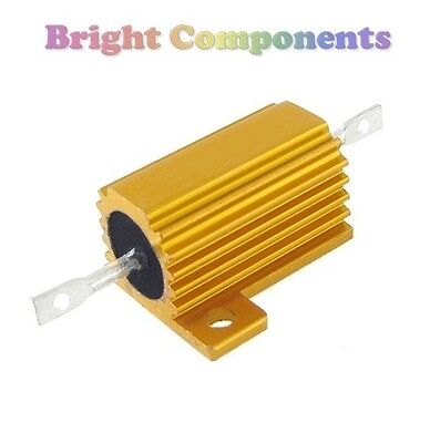25W Aluminium Clad Power Resistor (Values in Range 0.1R - 10K)  - 1st CLASS POST