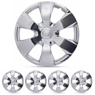 "4 PC Set 16"" Chrome Hub Caps AM Wheel Cover for OEM Steel Wheel Replacement"