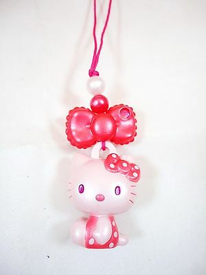 Sanrio Pink Hello Kitty Mascot Charm Red butterfly Bow Bandai Hanger Hook Loop