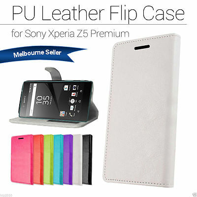 Slim Business Wallet Leather Case Cover For Sony Xperia Z5 AU