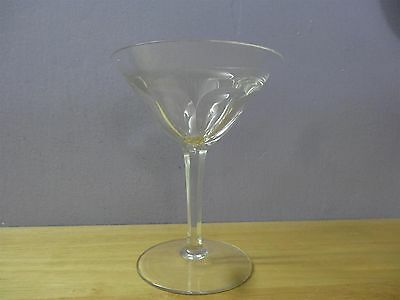 Antique ART DECO  Moser  Art Glass WATER / WINE CLEAR GLASS VTG