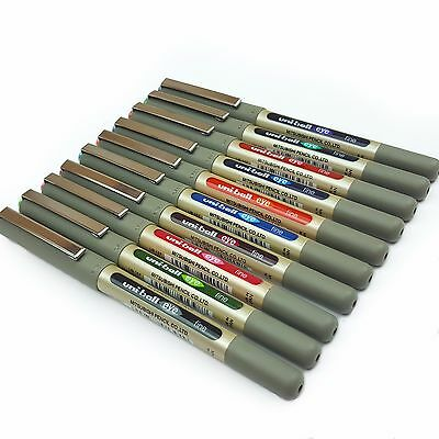 12 x UNI-BALL EYE ROLLERBALL PEN UB-157 Wide Range of Colours Available