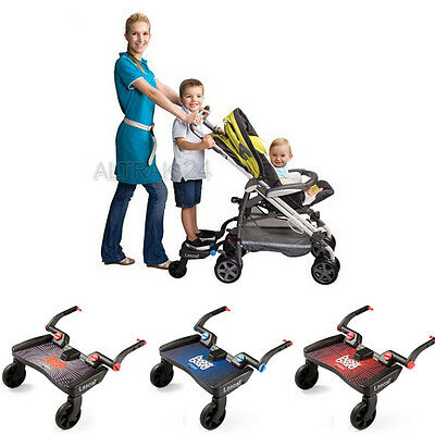 Lascal Buggy Board Maxi Blue Red Black platform for children with connectors