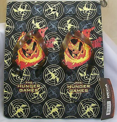 The Hunger Games Flaming Mockingjay & Logo Foam Flip Flips Size: Small 5/6 *New