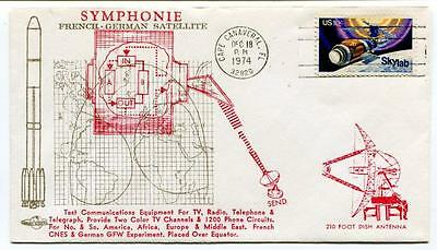 1974 Symphonie French-German Satellite Cape Canaveral Test Communications Skylab