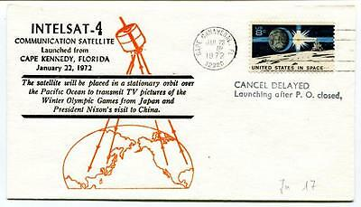 1972 Intelsat-4 Communication Satellite Cape Kennedy Florida Canaveral SPACE USA