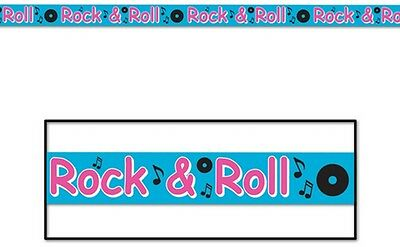 50S Rock & Roll Party Tape 20Ft Decoration!