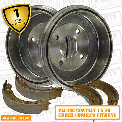 Fiat Seicento 1.1 187AXB, 187AXB1A 53bhp Rear Brake Shoes & Drums 185mm Fiat