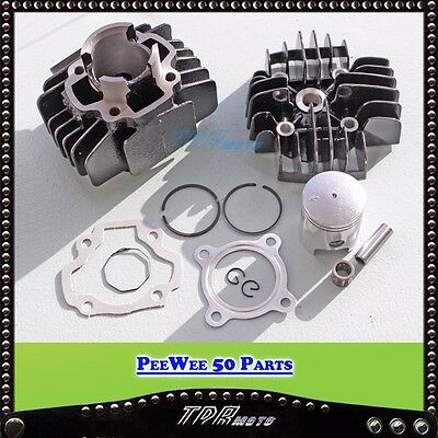 Yamaha Pw50 Engine Rebuild Kit Head Bore Cylinder Barrel Piston Ring Gasket