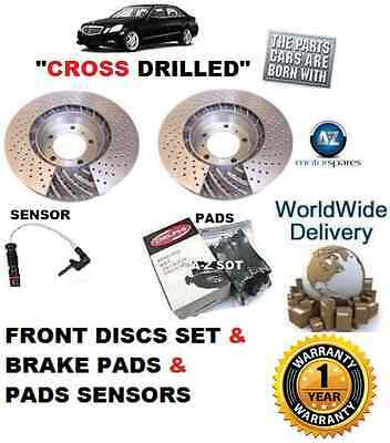 For Mercedes C250 W204 Sport 2009--  Front Brake Disc Set & Pad Kit+ Sensor