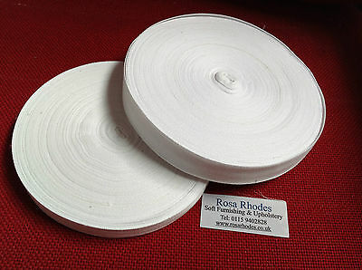 WEBBING  TAPE 20mm and 25mm - WHITE - 3 METRES