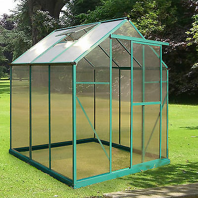 4 Size Greenhouse Aluminium PolyCarbonate Green UV noClip Twin FREE Rain Kit