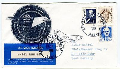 1989 Oregory Capter Olaha Kennedy Space Center Space Air Mail Hopkins INSURED