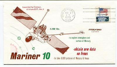 1973 Mariner 10 Centaur Cape Canaveral Explore Atmosphere Surface Mercury SAT US