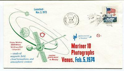 1974 Mariner 10 Photographs Venus Magnetic Field Cloud Formations Kennedy Space