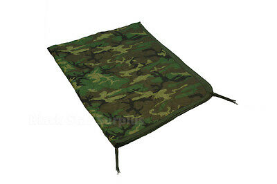 """Military Issue Woodland Camo Poncho Liner """"Woobie Blanket"""" -Excellent"""