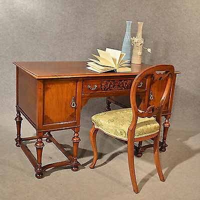Antique Desk Study Office Library Table Quality Victorian English Walnut c1900