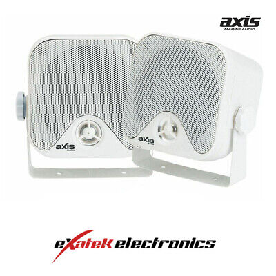 2x Axis Marine Surface Mount Speakers For Boats Outdoors MA442