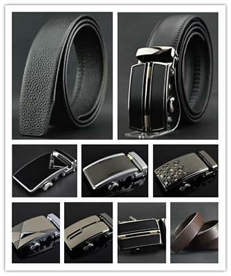 NEW Men's Automatic Buckle Waistband Belt /Automatic Buckle / Genuine Leather  B