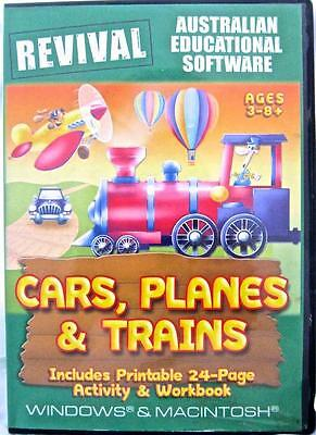 Cars Planes Trains Age 3-8 Windows 7 Computer Game Word Find Reading Logic Match