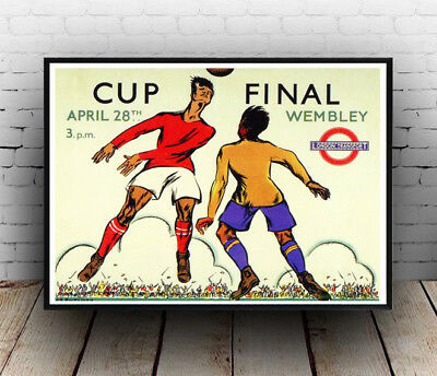 Cup final Wembley : Old Transport Poster reproduction