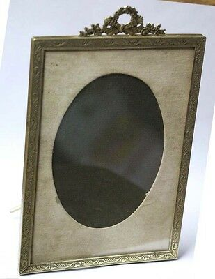 Interesting old French brass Louis XV / XVI picture frame 19 x 12 cm