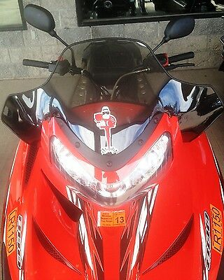 Rear view mirror set for Polaris line of Snowmobiles, Univ fit on handle bars