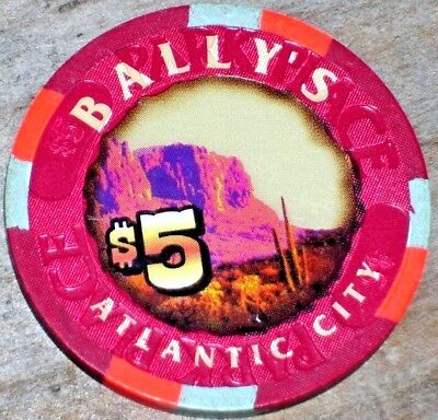 $5 Gaming Chip From Bally's Park Place Casino Atlantic City