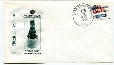 1964 Project Gemini Spacecraft Orbited Cape Kennedy Florida Canaveral SPACE USA