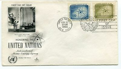 1958 Honoring United Nations International Atomic Energy Agency Nuclear Reactor
