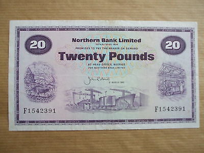 Northern  Bank  £20  Note, 1987.