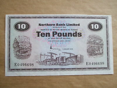 Northern  Bank  £10  Note, 1976.