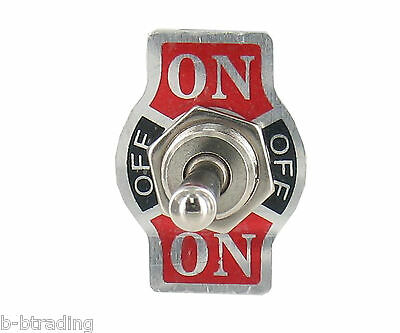 Heavy Duty 20A 125V 15A 250V SPDT 3 Term  (ON)-OFF-(ON) Momentary Toggle Switch