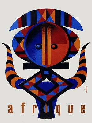 4604.afrique.african art.tribal.statue.head dress.POSTER.decor Home Office art