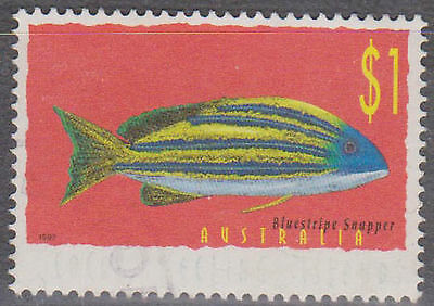 (T10-69)1998 Cocas keeling Is $1blue snapper variety FU