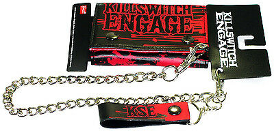 KILLSWITCH ENGAGE Chain Wallet Red & Black KSE Authentic Licensed NEW