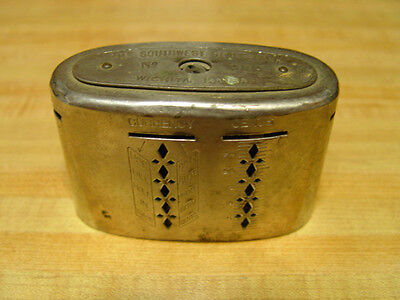 ANTIQUE STEEL WEALTHOMETER COIN BANK PATENTS 1904-1913