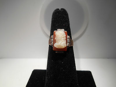 Beautiful, Antique Cameo Ring Size 6