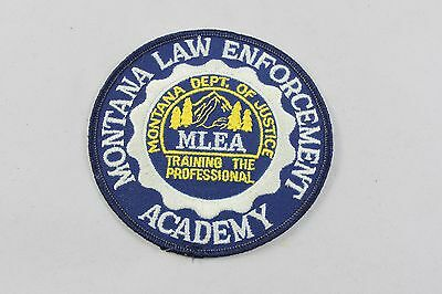 Vintage Montana Law Enforcement Academy Dept. of Justice Shoulder Patch  BB