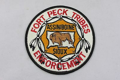 Vintage Fort Peck Tribes Enforcement Assiniboine Sioux  MT Shoulder Patch  BB