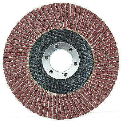 New 115mm x 22mm Sanding Flap Disc Discs Grinding Wheels 40 60 80 120 Grit 4.5""