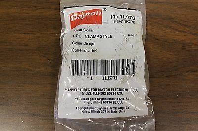 "New Dayton 1-3/4"" Bore Shaft Collar #1L670 1 Piece Clamp Style"