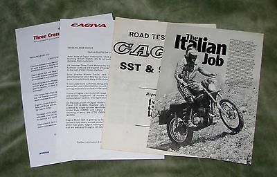 2 Cagiva Press Releases & 2 Magazine Test Reprints