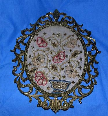 Antique Textile 19Th Century Turkish Ottoman Hand Woven Fabric Embroidery W Gold