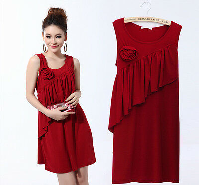 Nursing Breastfeeding Dress New Ruffles Flora Sleeveless Elegant Comfy 3044