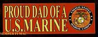 2 Two Proud Dad Of A Us Marine Bumper Sticker Pin Up Decal Boot Camp Graduation
