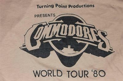 80s Vintage Turning point Productions Commodores World Tour Funk Soul T Shirt S
