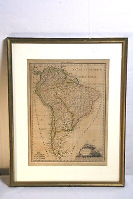 Amerique Meridionale Original Authentic 1805 Map Cartouch Of Mountains 1 Smoking