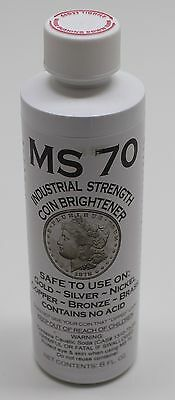 MS70 Coin Cleaner & Brightener, Industrial Strength, Silver, Gold, Copper Coins